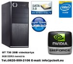 Kezdő Gamer PC Intel Pentium 3.3Ghz CPU+GT730 2GB VGA+8GB DDR3 RAM