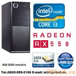 Core i3 Desktop PC 3.6Ghz +Radeon RX 550 2GB VGA+8GB DDR3 RAM