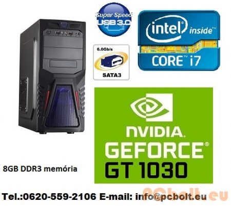 Gamer PC Core i5 4 magos CPU+GT 1030 2GB VGA+8GB DDR3 RAM