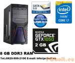 Gamer PC Core i5 3.2Ghz  4 magos CPU+GTX 1050 2GB VGA+8GB DDR3 RAM