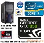 Gamer PC Core i5 3.2Ghz 4 magos CPU+GTX 1050 2GB VGA+120GB SSD+8GB DDR3 RAM