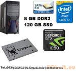 Gamer PC Core i5 3.2Ghz 4 magos CPU+GTX1060 3GB VGA+120GB SSD+8GB DDR3 RAM