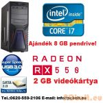 Gamer PC: Intel  Core i5 4magos CPU + AMD Radeon RX 550 2GB DDR5 VGA + 4GB DDR3 RAM