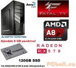 Fatal1ty Gamer PC: AMD A8 max. 3.8 GHz 4magos CPU + AMD Radeon RX 470 4GB VGA + 8GB DDR3 RAM+120GB SSD