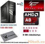 Fatal1ty Gamer PC: AMD A8 max. 3.8 GHz 4magos CPU+ AMD Radeon RX 480 4GB DDR5 VGA+8GB DDR3 RAM+120GB SSD