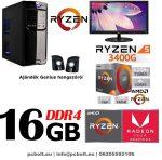 """Komplett asztali PC csomag: Intel Pentium G4400 CPU+120GB SSD+4GB DDR4 RAM+20"""" LG monitor"""