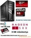 Fatal1ty Gamer PC: AMD A8 max.3.8GHz 4magos CPU+AMD Radeon RX 480 8GB VGA+8GB DDR3 RAM+120GB SSD