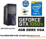 Gamer PC Core i5 4 magos CPU+GTX 1050Ti 4GB VGA+8GB DDR3 RAM