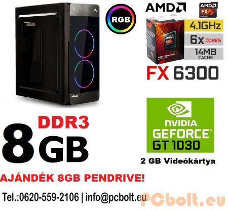 Kezdő Gamer PC: Intel Pentium G4400 CPU+AMD Radeon R7 240 2GB vga+4GB DDR4 RAM