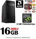 Kezdő Gamer PC: Intel Pentium G4400 CPU+AMD Radeon R7 250 2GB vga+4GB DDR4 RAM