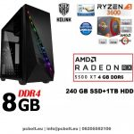 Gamer PC: Intel Pentium G4400 CPU+ AMD Radeon RX 460 2GB DDR5 VGA+4GB DDR4 RAM
