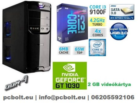 Gamer PC: Intel Core i3 CPU+ Nvidia GT 1030 2GB VGA+4GB DDR4 RAM