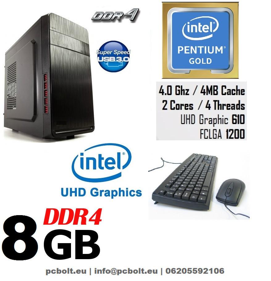 Komplett számítógép: Intel Pentium G3260 3.3Ghz 2 magos  Processzorral